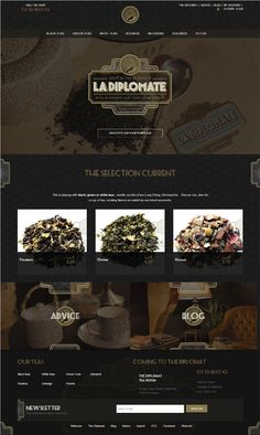 La Diplomate. Golden age of tea. #webdesign (More design inspiration at www.aldenchong.com)