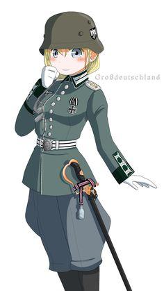 Anime Military, Military Girl, Comic Pictures, Manga Pictures, Military Archives, Anime Uniform, Witch Series, Girls Frontline, Manga Comics