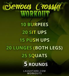 Serious Crossfit Workout