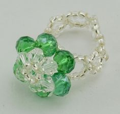 Glass Rings, with Seed Beads
