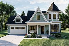 House Plan 963-00446 - Victorian Plan: 1,932 Square Feet, 3 Bedrooms, 2.5 Bathrooms Modern Victorian Homes, Victorian Homes Exterior, Victorian House Plans, Victorian Cottage, Victorian Houses, Victorian Farmhouse, Victorian Bedroom, Victorian Design, Best House Plans