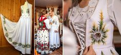 Growing trend: handpainted wedding dresses inspired by folklore of Polish highlanders – Lamus Dworski Polish Wedding, Highlanders, Folklore, New Trends, Style Me, Sewing Projects, Girly, Poland, Hand Painted