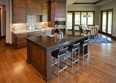 Modern Clear Alder Kitchen - contemporary - kitchen - kansas city - Wende Woodworking LLC
