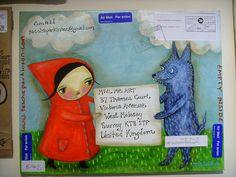 Mail Me Art exhibition - Tascha Parkinson by Queenie & the Dew, via Flickr