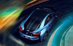 Lataa kuva 4r, BMW i8, superautot, 2017 autot, saksan autoja, BMW