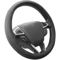 SEG Direct Black and Gray Microfiber Auto Car Steering Wheel Cover Universal 15 inch SEG Direct steering wheel covers fit middle size steering wheels with outer Interior Accessories, Car Accessories, Car Steering Wheel Cover, Steering Wheels, Good Grips, Black And Grey, Stuff To Buy, Amazon, Buick