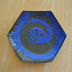 hanova of pasadena lava enamel dish by the creekhouse on Etsy