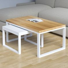 Table basse / rectangulaire / contemporaine / en MDF DUET take me HOME