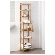 IKEA - RÅGRUND, Shelf unit, bamboo, Perfect in a small bathroom. Bamboo is a durable, natural material. Ikea Shelves, Ikea Storage, Corner Shelves, Shelving Units, Storage Ideas, Shelf Units, Sink Shelf, Bathroom Shelves, Bathroom Storage