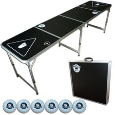GoPong 8-Foot Portable Folding Beer Pong / Flip Cup Table (6 balls included) GoPong http://www.amazon.com/dp/B003XNWN3S/ref=cm_sw_r_pi_dp_AhbDub1E8J15Z