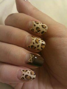 ヒョウ柄ネイル♥ leopard nail