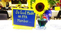 "And one day God looked down on his planned paradise and said, ""I need a voice for agriculture."" So God made an FFA member. Clewiston FFA Chapter, 2013"