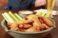 My Buffalo Wing recipe, because apparently there's something called a Super Bowl which needs to be filled… (via Buffalo Wings : Alton Brown) Fried Buffalo Wings Recipe, Baked Buffalo Wings, Super Bowl I, Brown Recipe, Recipe Box, Chicken Wing Recipes, Fried Chicken, Cocktails, Recipes