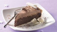 Get your chocolate fix with this eye-catching pie, with two flavored cream fillings atop an easy refrigerated crust.