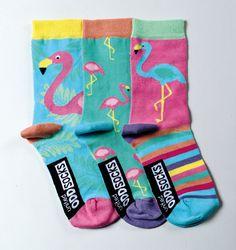 United Oddsocks - Girl Flamingo Socks - Size 12-5.5