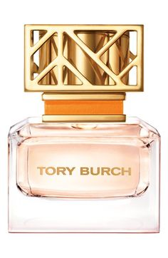 Tory Burch Eau de Parfum Spray - Tory Burch introduces her first namesake eau de parfum. The feminine scent with a hint of tomboy is easy yet polished with notes of floral peony and tuberose blended with citrus hints and earthy tones. The spray comes in a beautiful glass bottle with a signature fretwork top.  Notes: neroli, grapefruit, cassis, bergamot, peony, tuberose, jasmine sambac, vetiver, sandalwood.