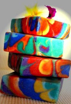 Swirl Soap - Lollipop Handmade Soap by angelia