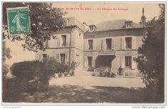 CPA 58 SAINT MARTIN DU PUY Le Château des Granges Homme et Chien 1909
