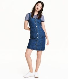 Vestido vaquero | Azul denim | Mujer | H&M MX