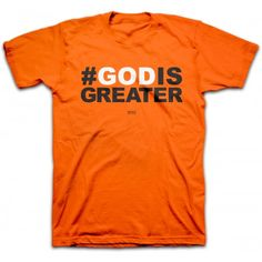 Use this bold Christian tee to start a life-changing trend. Hashtags come and go but #GODISGREATER and will never fail us or fade away. God is greater than any problem, failed plan, debt, disease, army or mountain standing in your way. Luke 1:37 reminds of the great promise – with God nothing is impossible!
