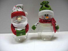 dulceros para navidad con material reciclable - Buscar con Google