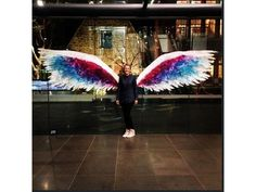 (LA) based artist Colette Miller is bringing her renowned Angel Wings art installation to Perth, Melbourne and Sydney. Angel Wings Art, Angel Art, Colette Miller Wings, Interactive Walls, Eagle Wings, Crafts With Pictures, Wall Murals, Cool Art, Backdrops