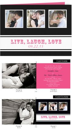 """The Country Fold is a folded photo wedding invitation that folds to a traditional 5""""x7"""" card.  Impress your guests with a folded card that can be mailed via standard postage."""