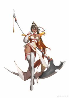 Japanese Characters, Cute Characters, Fantasy Characters, Female Characters, Anime Fantasy, Dark Fantasy Art, Fantasy Girl, Warrior Girl, Fantasy Warrior