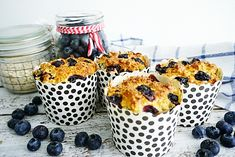 Havermout kwarkmuffins blauwe bes Healthy Snacks, Healthy Recipes, Delicious Recipes, Sweet And Low, Good Food, Yummy Food, Low Sugar, Superfood, Baking Recipes