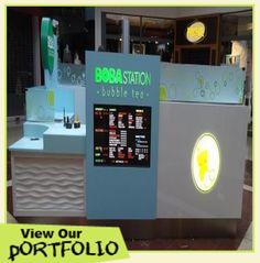 Kiosk Design, Bubble Tea, Bubbles