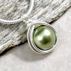 Necklace Sage Pearl Sterling Silver