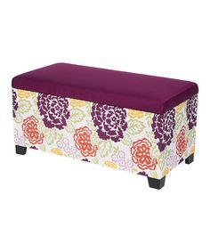 Look at this #zulilyfind! Purple Storage Bench #zulilyfinds
