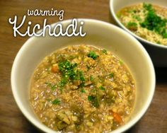 Kitcharee/Kichadi/Kitchari - however you spell it, it's my new comfort food.  Perfect for when you've over-indulged or feeling less than human.
