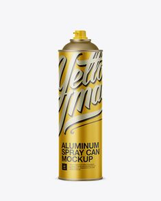 Aluminum Spray Can Without Cap Mockup (Preview)