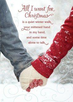All I Want - Christmas Greeting Cards in Fog | Hallmark