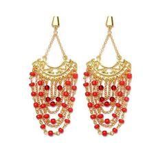 Tá esfriando lá fora né...capricha no vermelho que esquenta! ❤👑🌋👏👸 #maxi #brinco #dourado #vermelho #moda #tendencia #estilo #diva #golden #red #earrings #fashion #trend #style #handmade #exclusive #instalook #instalike #instagood