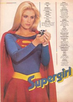 Supergirl Movie, Supergirl 1984, Power Girl Supergirl, Comic Book Superheroes, Comic Book Characters, Comic Books, Helen Slater Supergirl, Supergirl Pictures, Movies And Series