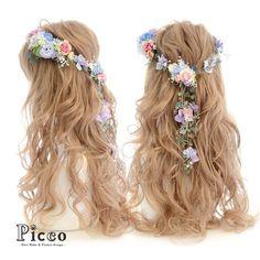 Gallery 149 Order Made Works Original Hair Accesory for WEDDING #byPicco #ブルー の#ドレス のお色に合わせた#華奢 なスタイルの#花冠 ふう#❤️ #オリジナル#オーダーメイド#髪飾り#結婚式 #前撮り##花飾り#イベント#ウェディング#ブライダル#ドレス#造花#ヘアセット#ダウンスタイル#二次会#ドレス にも #hairdo#flower#flowercrown#accessory#wedding#dress