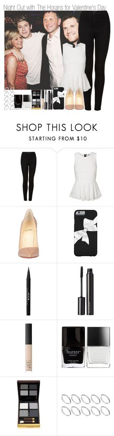"""""""Night Out with the Horans for Valentine's Day"""" by elise-22 ❤ liked on Polyvore featuring Topshop, Vero Moda, Christian Louboutin, Stila, Witchery, NARS Cosmetics, Butter London, Tom Ford and ASOS"""
