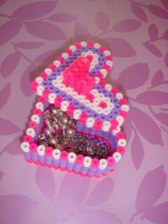 perler bead heart box