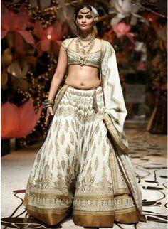 Sonam Kapoor in Cream #Lehenga At walks the ramp