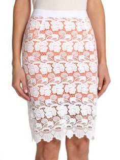 REBECCA MINKOFF Angelica Lace Pencil Skirt. #rebeccaminkoff #cloth #