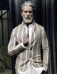 Aiden Shaw, Model 21 Disgustingly Hot Silver Foxes That'll Make You Fall In Love With Gray Hair Sharp Dressed Man, Well Dressed Men, Aiden Shaw, Look 2015, Le Figaro, Look Man, La Mode Masculine, Older Men, Beard Styles