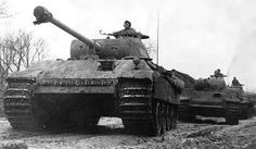 Panther tank column, unknown location #worldwar2 #tanks