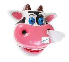 WitnyStore Toilet Paper Cows Cattle Farm Holder Tissue Bathroom Paper Mache Holding roll Kids Handmade Craft Home Decorations idea DIY Animals | WantItAll Recycle Paper, Diy Paper, Toilet Paper Roll Holder, Cattle Farming, Paper Mache, Cows, Handmade Crafts, Piggy Bank, Home Crafts