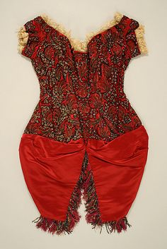 Bodice, ca.1881. French. The Metropolitan Museum of Art, New York. Gift of Mrs. Roland L. Redmond, 1950 (C.I.50.28a, b) #reddress