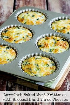 Low-Carb Baked Mini-Frittatas with Broccoli and Three  Mein Blog: Alles rund um Genuss & Geschmack  Kochen Backen Braten Vorspeisen Mains & Desserts!