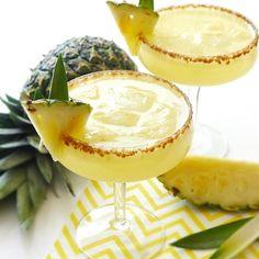 Pineapple Rum Sangria: Pineapple, Water, White Wine, Coconut Sugar, White Rum, Lemon Juice, Soda.