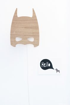 Wood batman lamp | Kid's room decor | April Eleven