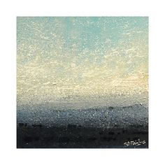 Blue Dawn original Dawn Landscape painting on by simonsgallery